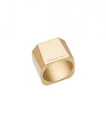 Gold-tone steel square ring