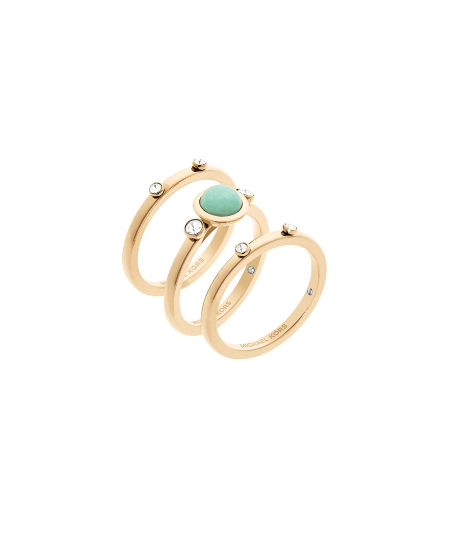 5e2c0730d2ca98 Discount Gold-tone steel ring trio   SECRETSALES