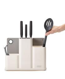 White utensil organiser & chopping board