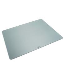 Large silver-tone glass worktop board