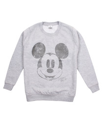 Girls' Mickey grey cotton blend jumper
