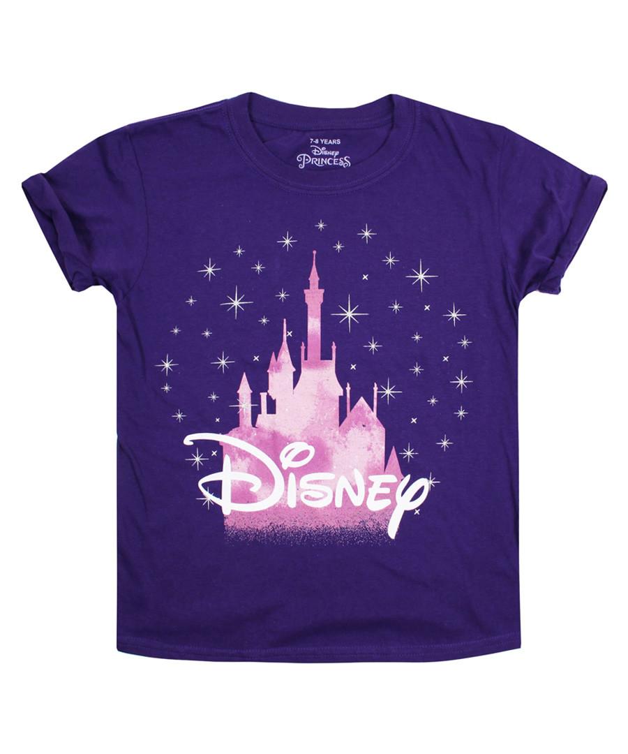 Girls' Purple cotton castle T-shirt Sale - disney