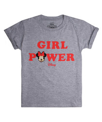 Girls' Girl Power grey T-shirt
