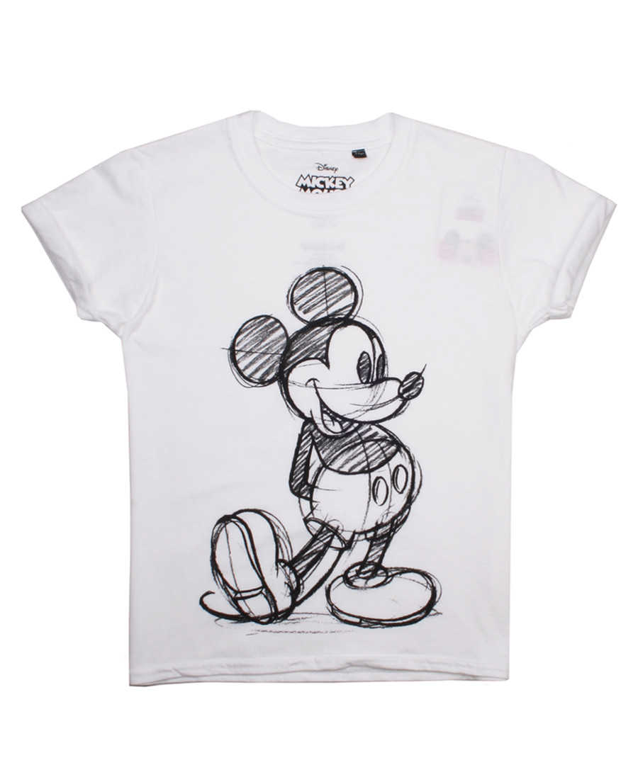 Girls' Mickey white pure cotton T-shirt Sale - disney