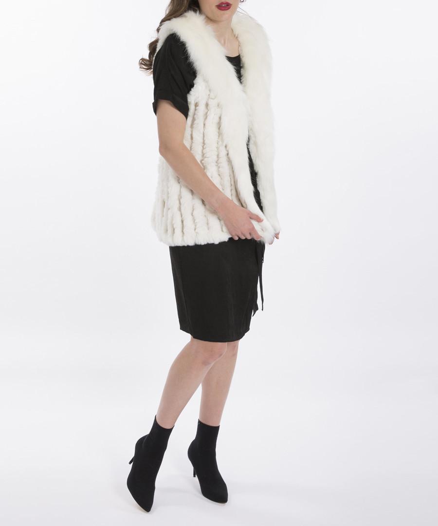 White faux fur gilet Sale - jayley