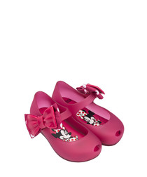 Girls' Fuchsia Minnie Mouse pumps
