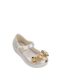 Girls' Crystal pearl flower pumps