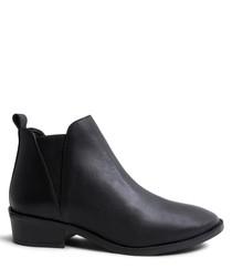 Dante black leather Chelsea boots