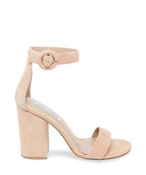 Friday blush suede heel sandals
