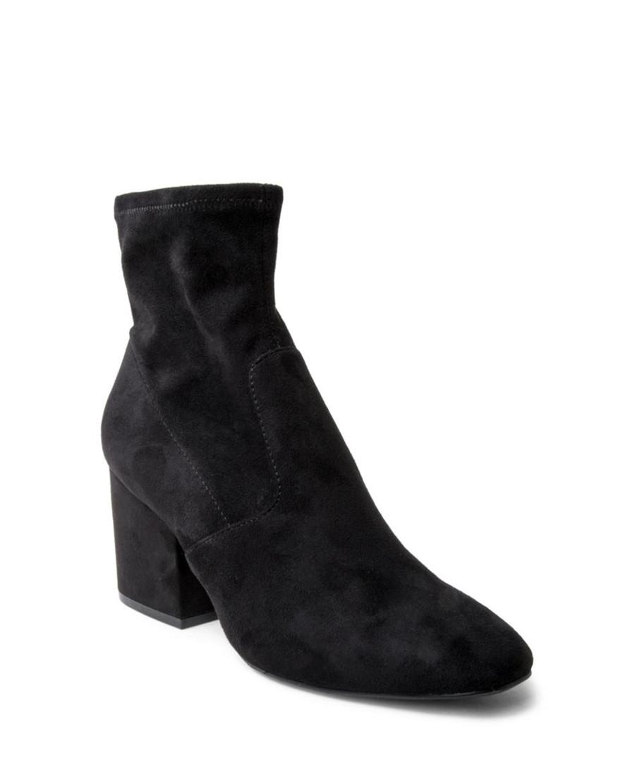 ab56f88e889 Discount Iberia black microsuede ankle boots | SECRETSALES