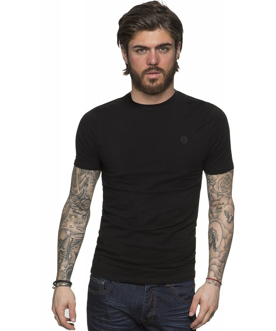 Basic Black Casual Short Sleeve T-Shirt Sale - BBH By Enzo