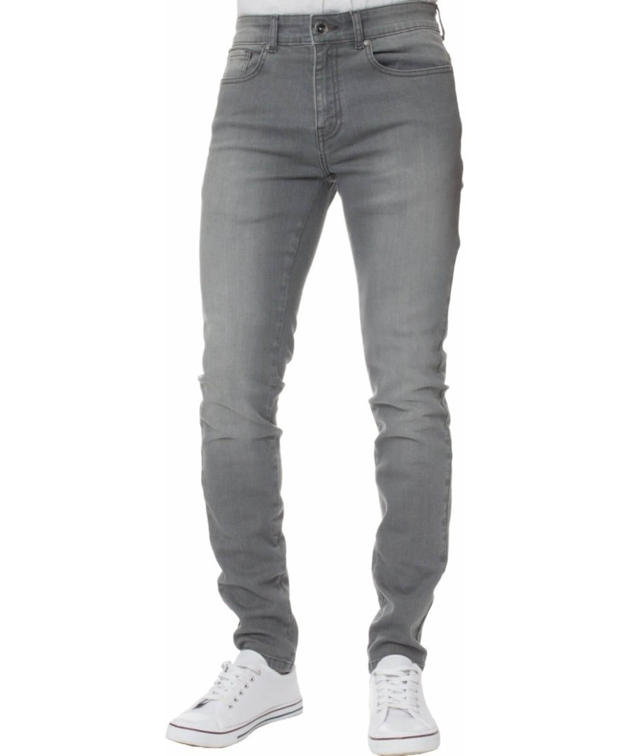 Grey Super Skinny Stretch Jeans Sale - Enzo