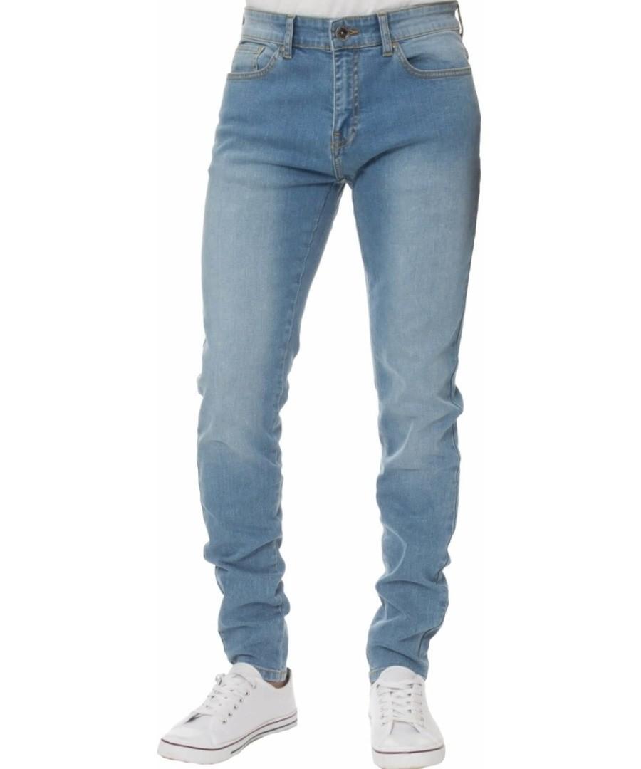 Light Blue Super Skinny Stretch Jeans Sale - Enzo