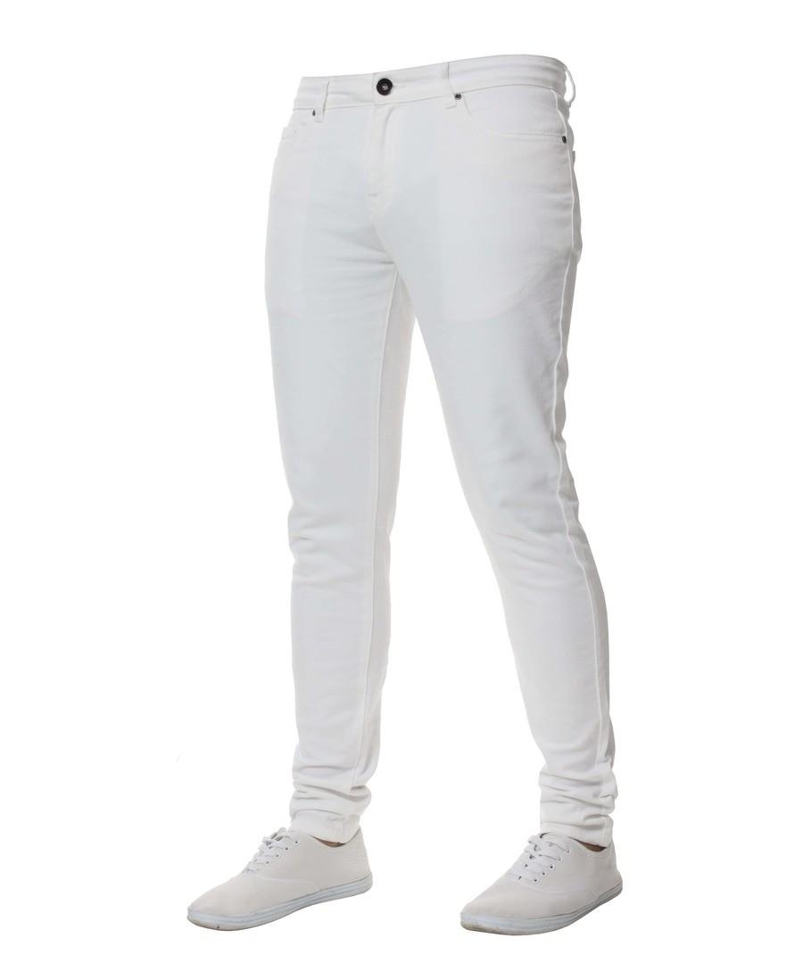 White Super Skinny Stretch Jeans Sale - Enzo