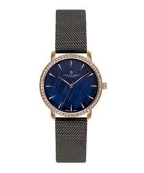 Monte Leone black mesh strap watch