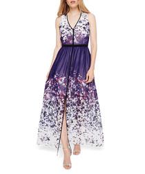 Catalina purple & white maxi dress