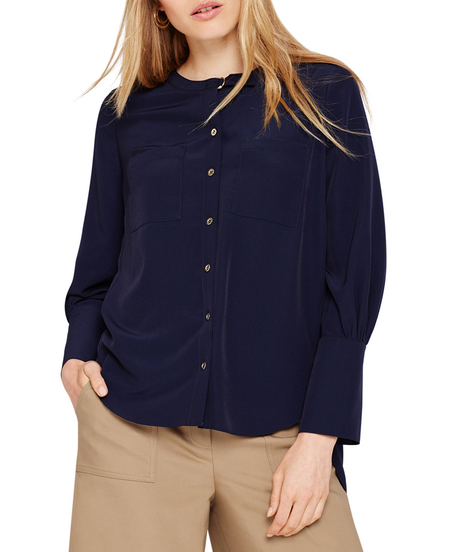 Jessy navy button blouse Sale - damsel in a dress
