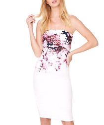 Elin Blossom shoulderless dress