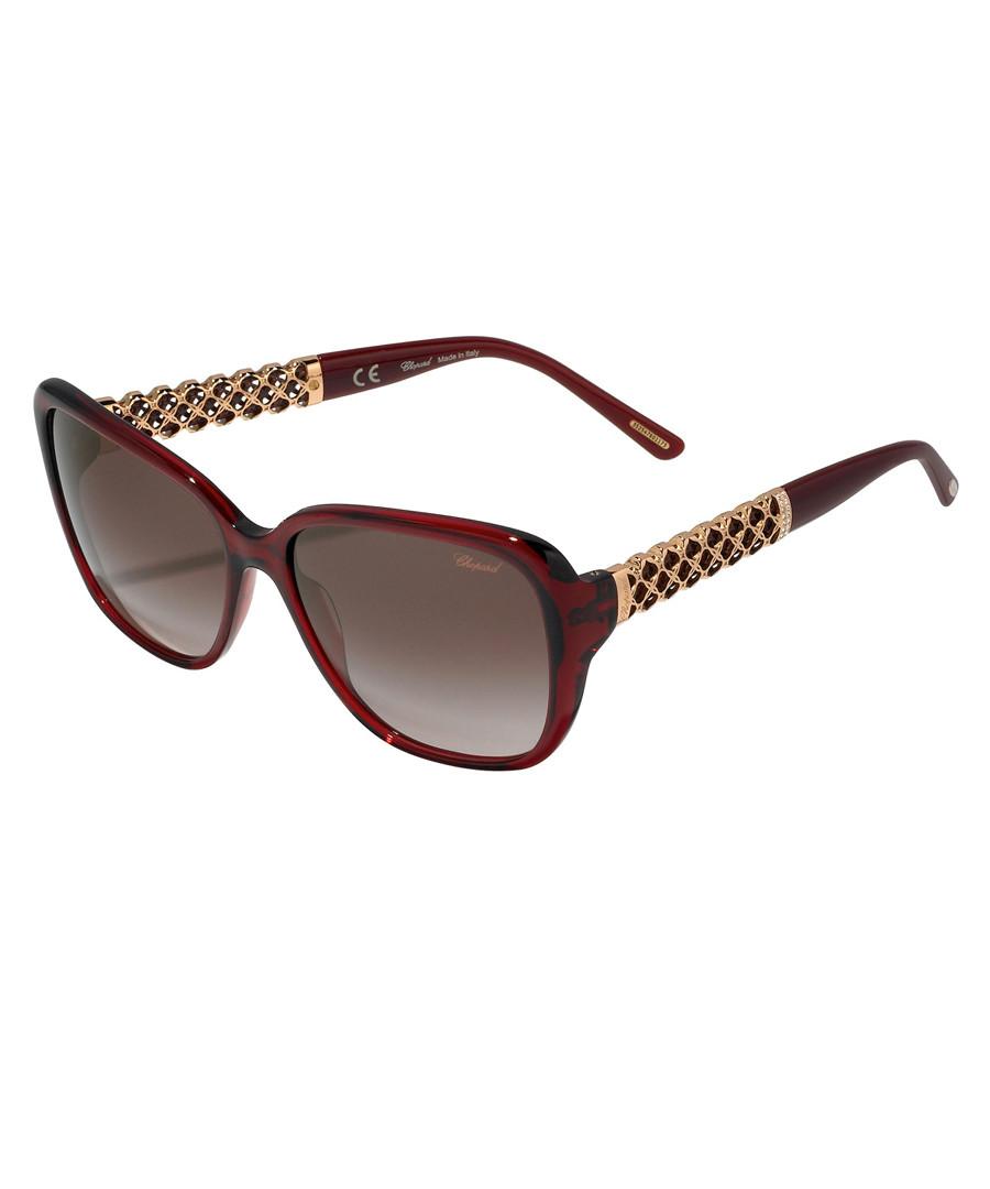 Burgundy & brown sunglasses Sale - chopard