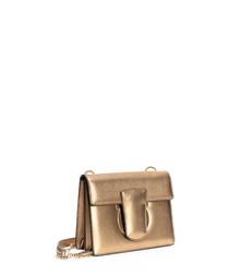Thalia gold-tone leather shoulder bag