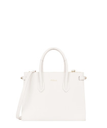 white leather grab bag