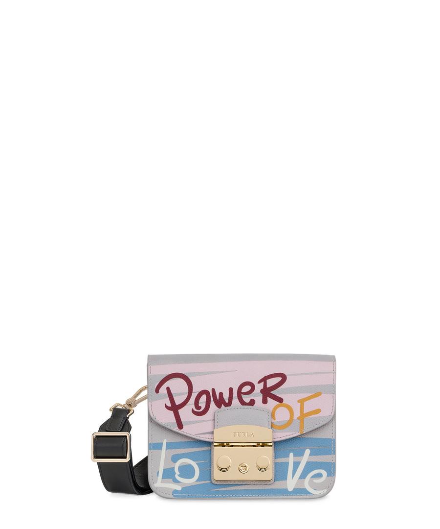 Grey & multi-colour leather shoulder bag Sale - furla