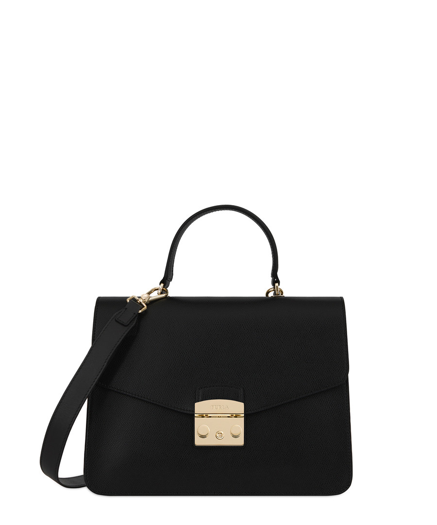 Black leather shoulder bag Sale - furla