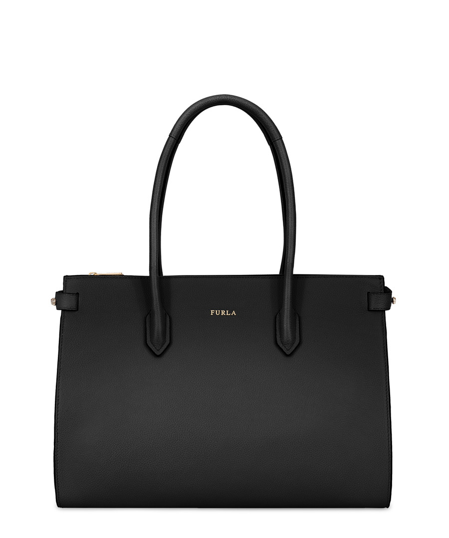 Black leather shopper bag Sale - furla