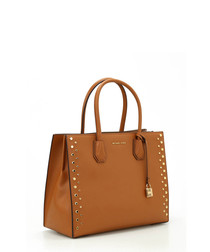 Mercer tan leather shopper bag