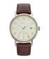 Silver-tone & brown leather watch Sale - gant Sale