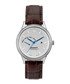 Silver-tone & brown leather watch Sale - gant Sale