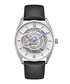 Silver-tone & black leather watch Sale - ken cole Sale