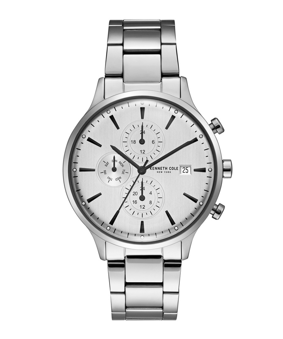 Silver-tone stainless steel watch Sale - ken cole
