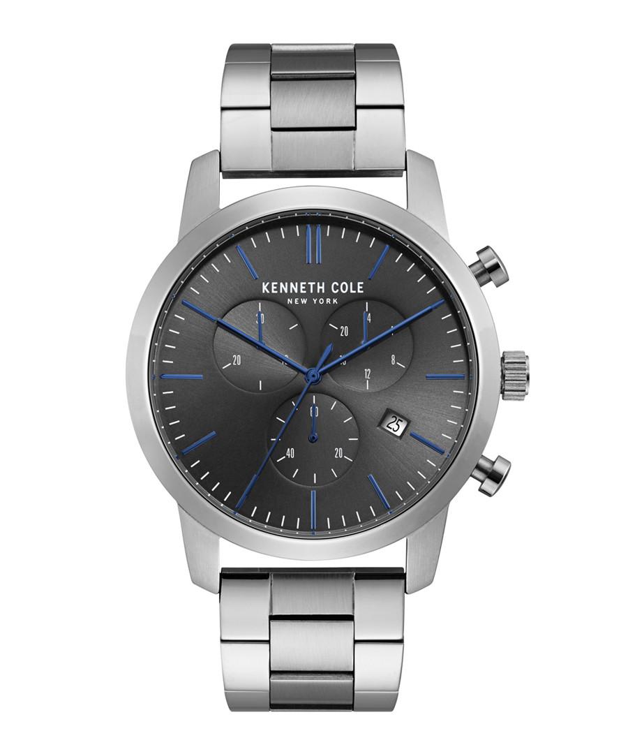 Silver-tone & black dial watch Sale - ken cole