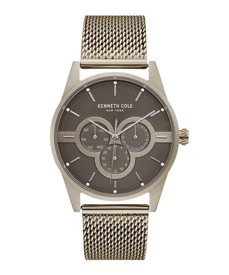 Warm silver-tone stainless steel watch Sale - ken cole