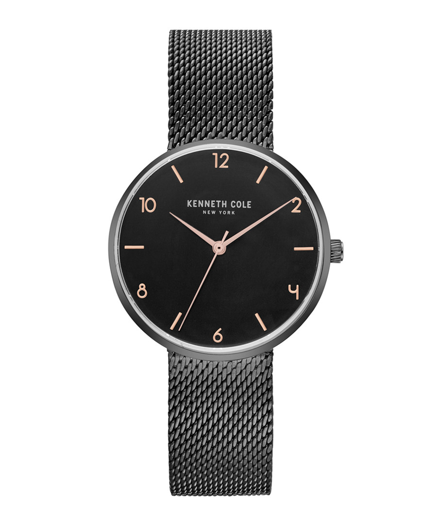 Black stainless steel mesh strap watch Sale - ken cole