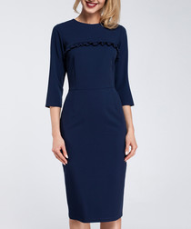 navy trim detail Dress