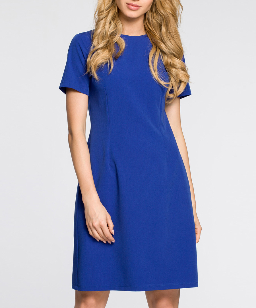 royal blue short sleeve minimal dress Sale - made of emotion