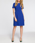 royal blue short sleeve minimal dress Sale - made of emotion Sale