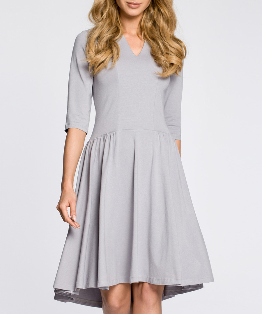 grey pleated Dress Sale - made of emotion