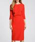 Scarlet red boat neck dress Sale - made of emotion Sale