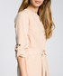 Beige waist-tie mini dress Sale - made of emotion Sale