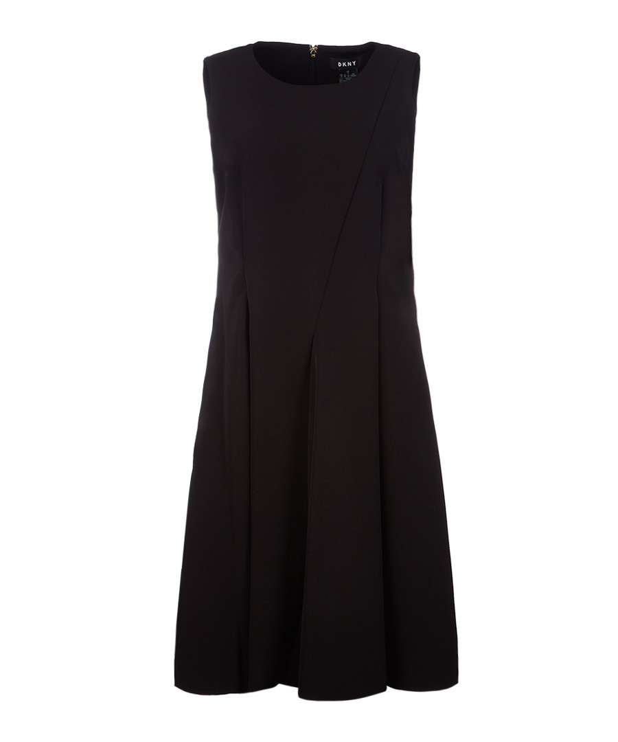 Black sleeveless flare dress Sale - dkny