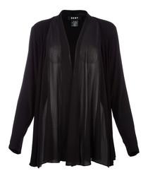 Black draped jacket
