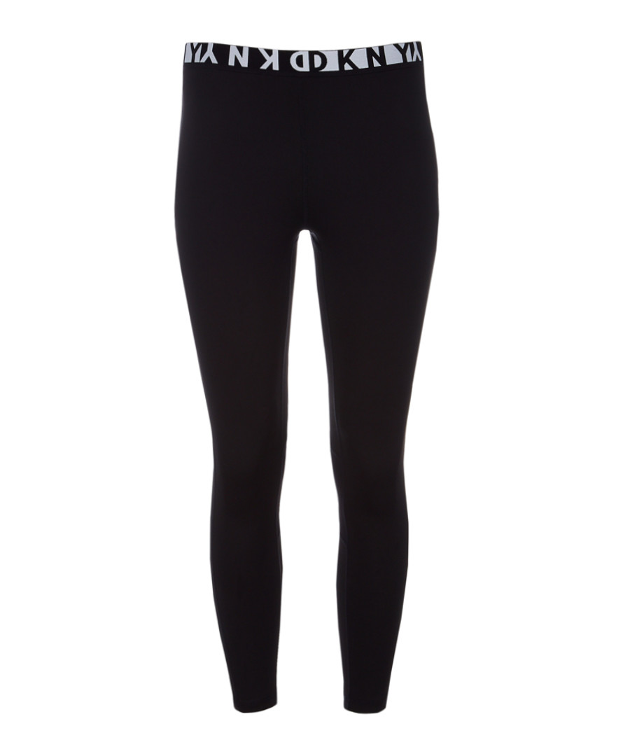 Black logo band leggings Sale - dkny
