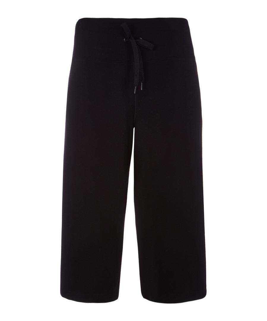 Black wide-leg joggers Sale - DKNY