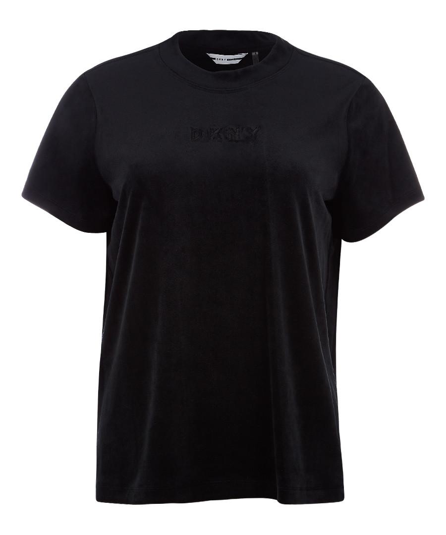 Boxy black logo T-shirt Sale - dkny