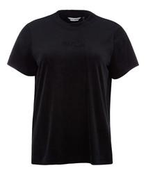 Boxy black logo T-shirt