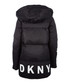 Black matte nylon long puffer jacket Sale - dkny Sale