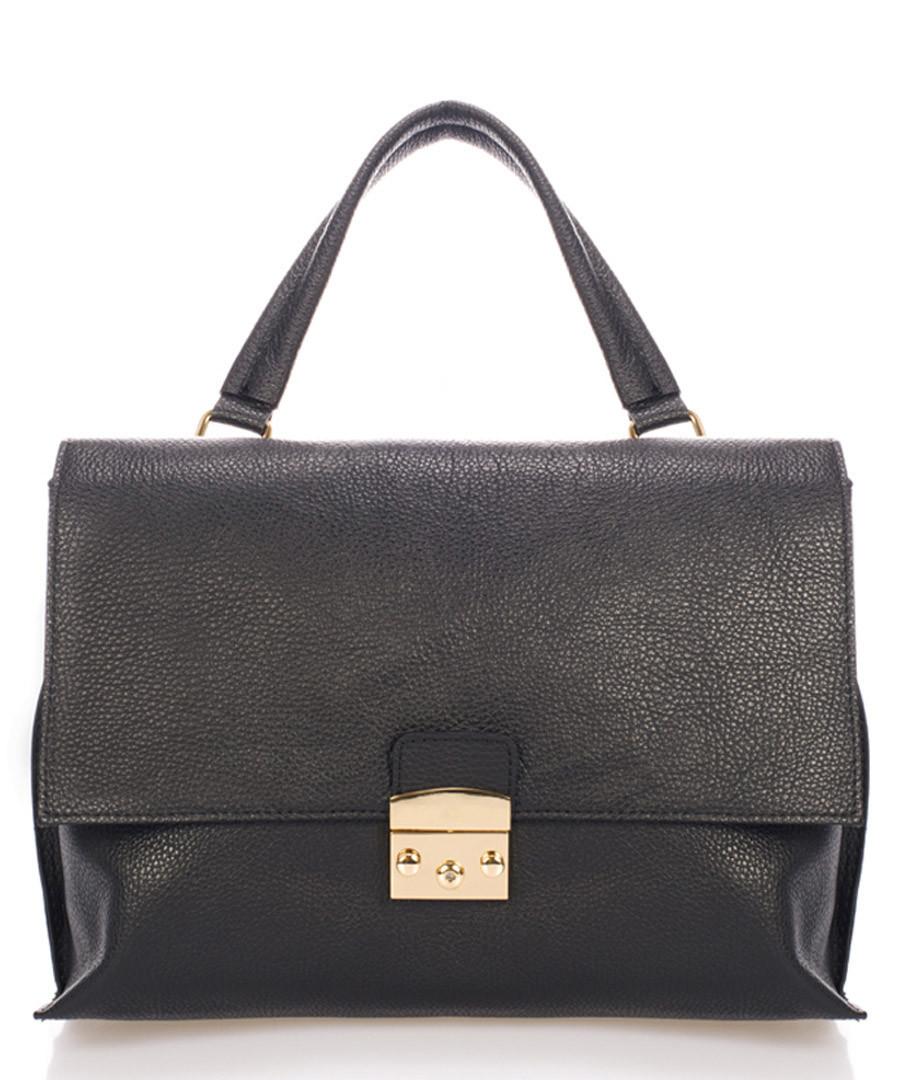 Black leather clasp shoulder bag Sale - scui studios